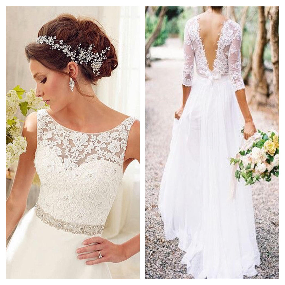 transparency and neckilne, wedding dress with a lingerie inspiration